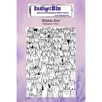 IndigoBlu Cling Stamp KIBBLE KITS Rubber IND0234