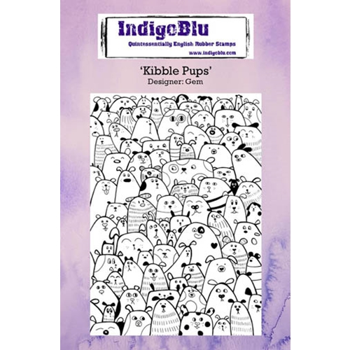 IndigoBlu Cling Stamp KIBBLE PUPS Rubber IND0233 Preview Image