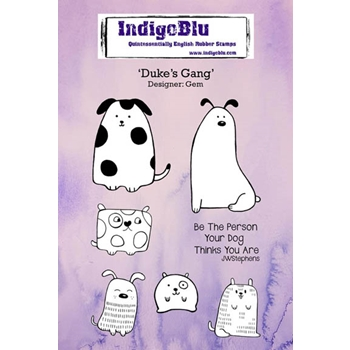 IndigoBlu Cling Stamp DUKES GANG Rubber IND0240