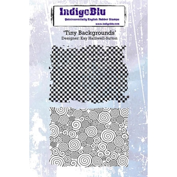 IndigoBlu Cling Stamp TINY BACKGROUNDS Rubber IND0220*