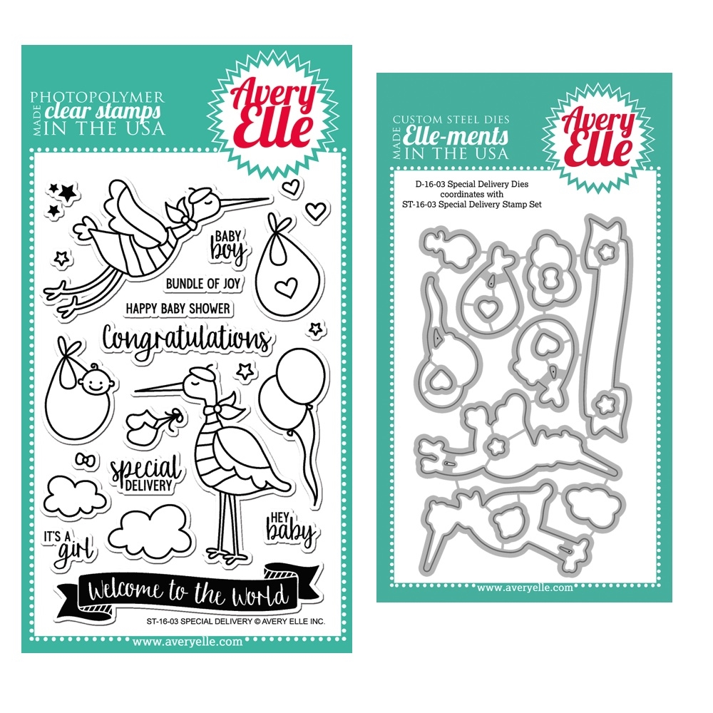 Avery Elle Clear Stamp and Die SETSDAE Special Delivery SET* zoom image