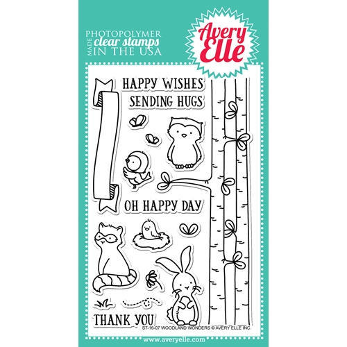 Avery Elle Clear Stamp WOODLAND WONDERS ST-16-07 Preview Image