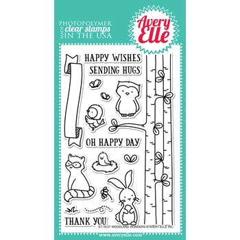 Avery Elle Clear Stamp WOODLAND WONDERS ST-16-07