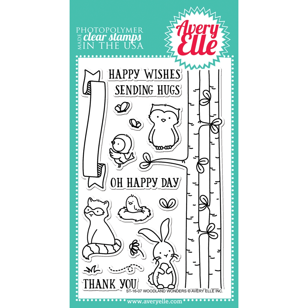 Avery Elle Clear Stamp WOODLAND WONDERS ST-16-07 zoom image