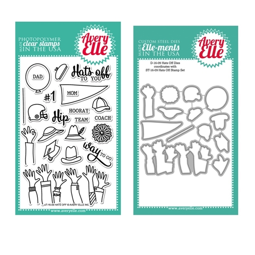 Avery Elle Clear Stamp and Die SETHFAE Hats Off SET* Preview Image