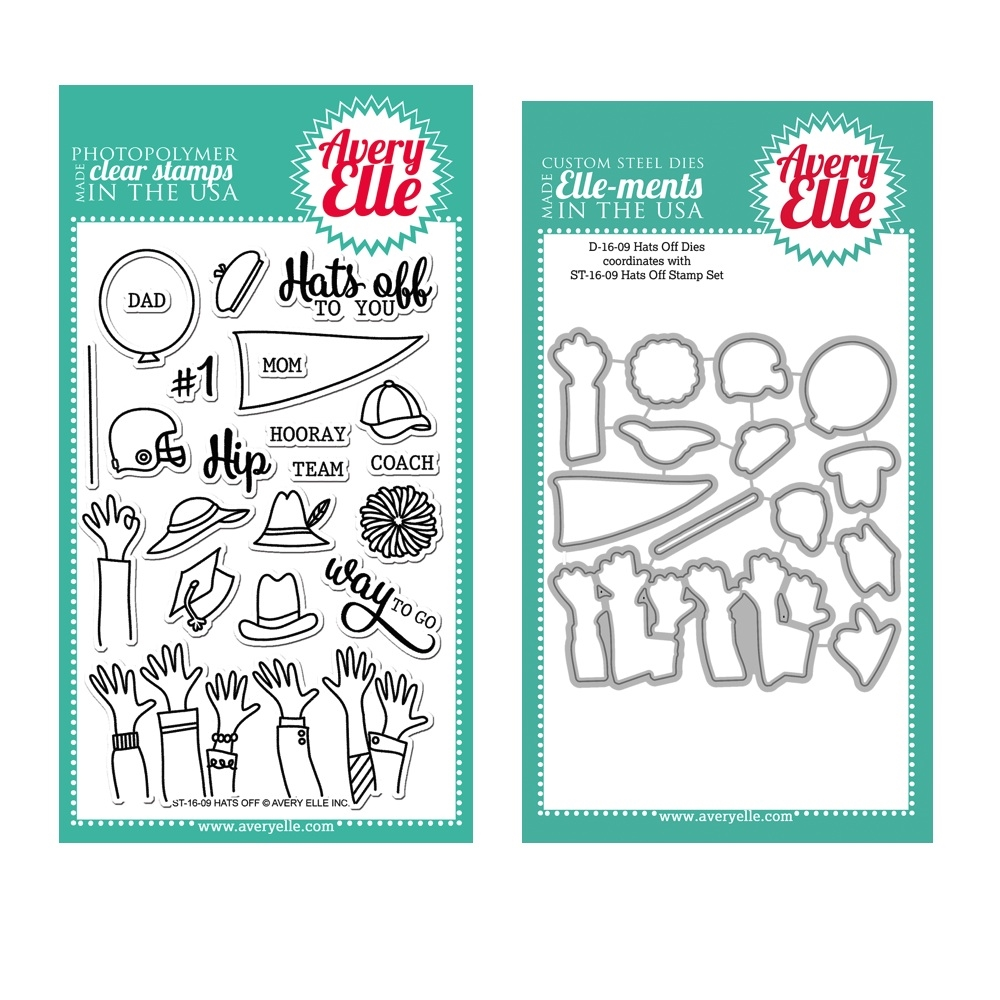 Avery Elle Clear Stamp and Die SETHFAE Hats Off SET* zoom image