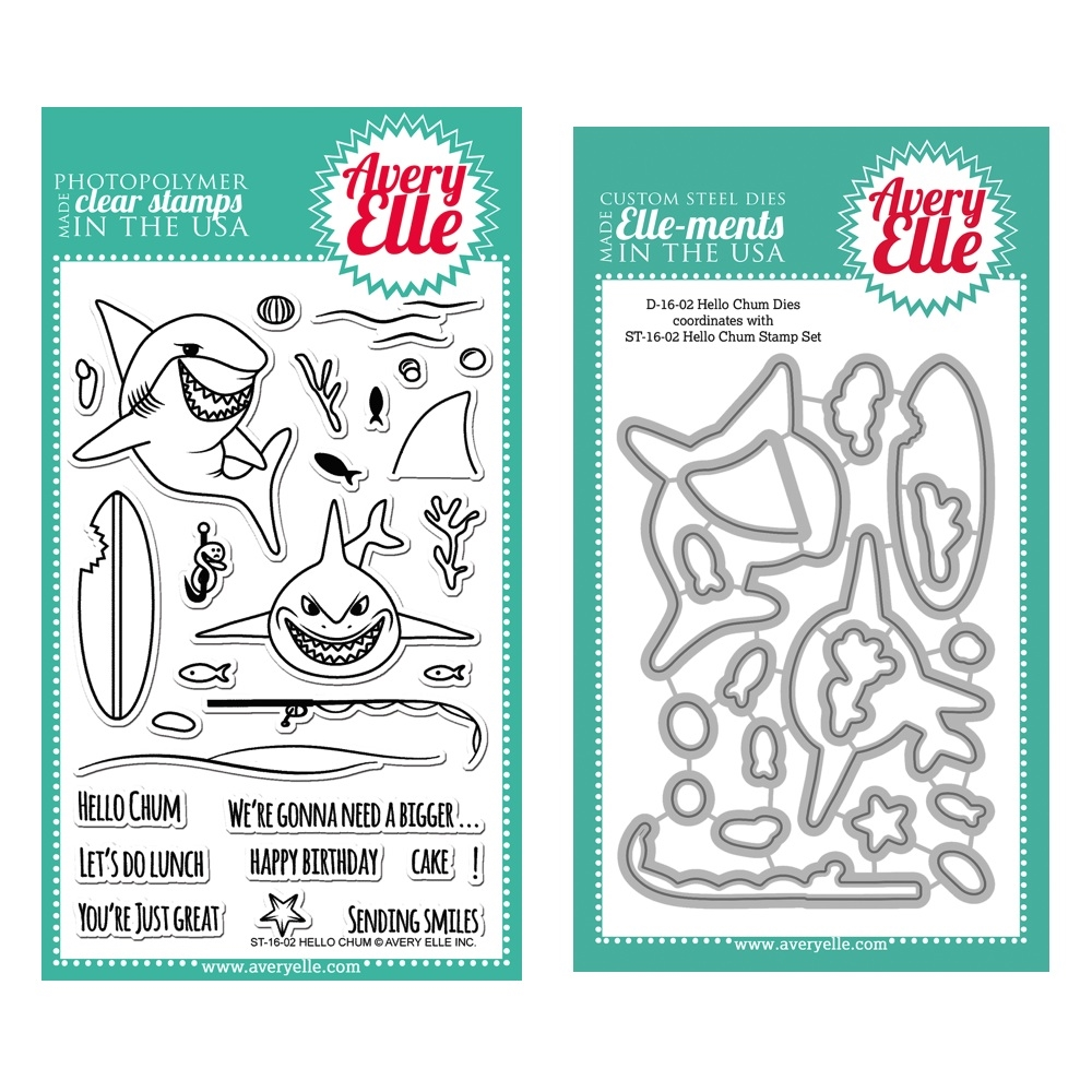 Avery Elle Clear Stamp and Die SETHCAE Hello Chum SET zoom image