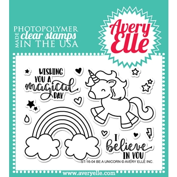 Avery Elle Clear Stamp BE A UNICORN 023642