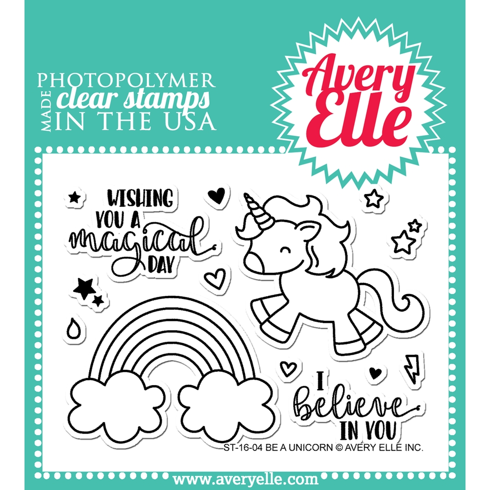 Avery Elle Clear Stamp BE A UNICORN 023642 zoom image