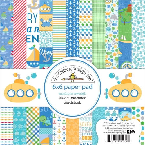 Doodlebug ANCHORS AWEIGH 6x6 Paper Pad 5139 Preview Image