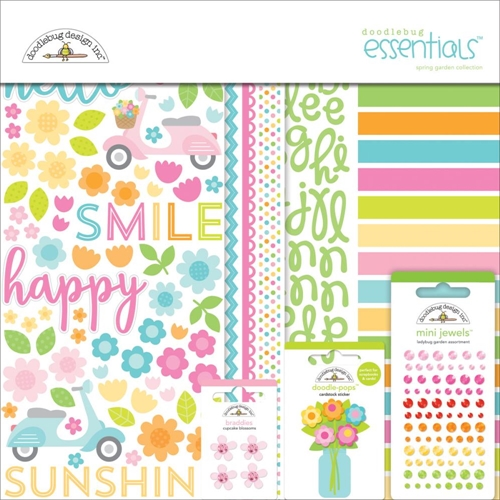 Doodlebug SPRING GARDEN Essentials Page Kit 12x12 Inches 5150 Preview Image