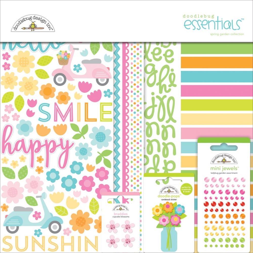 Doodlebug SPRING GARDEN Essentials Page Kit 12x12 Inches 5150 zoom image