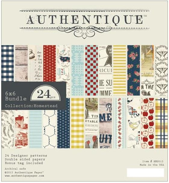 Authentique 6 x 6 HOMESTEAD Paper Pad HMS015* zoom image