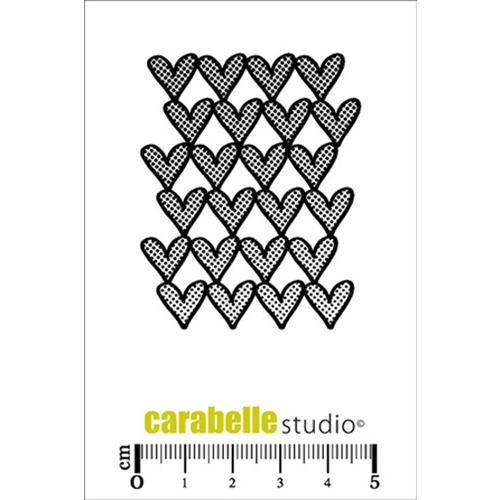 Carabelle Studio TEXTURE WITH HEARTS Cling Stamp SMI0154 Preview Image