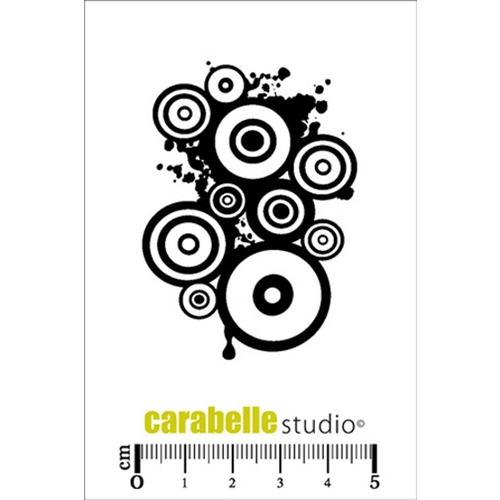 Carabelle Studio COLLAGE DES RONDS Cling Stamp SMI0144 Preview Image
