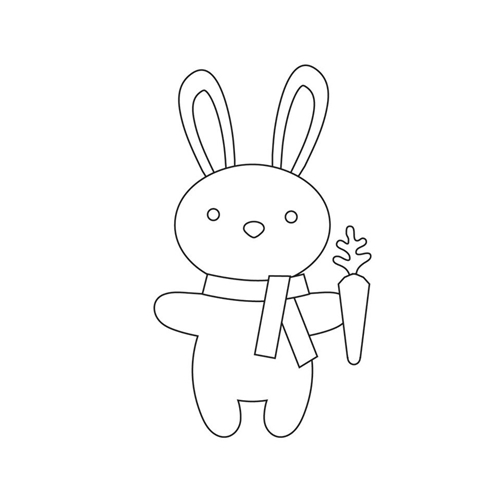 Simon Says Stamp CARROT BUNNY Wafer Dies S359 Spring Plush Preview Image