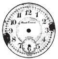 Tim Holtz Rubber Stamp POCKET WATCH Clock Stampers Anonymous H1-1284 zoom image