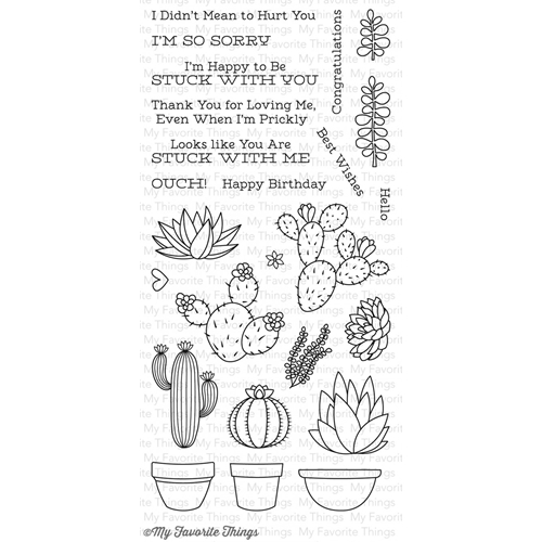 My Favorite Things Sweet Succulents Clear Stamps