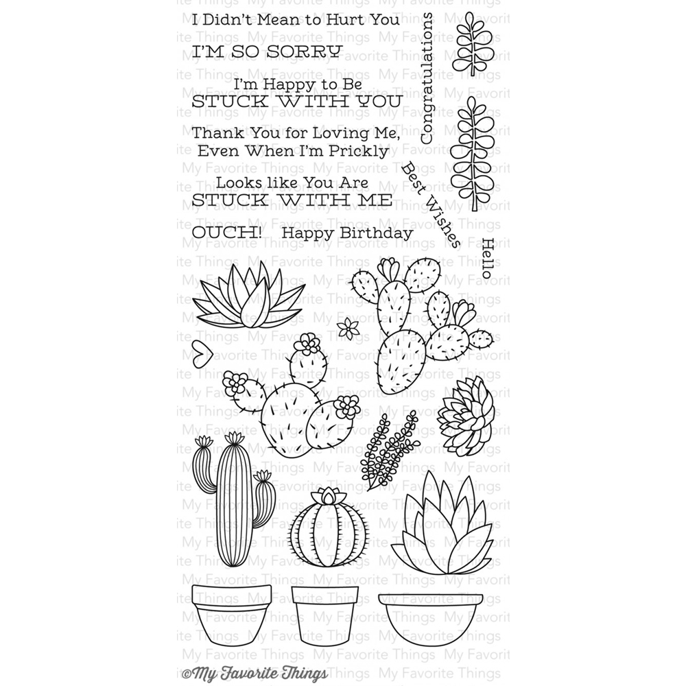 My Favorite Things SWEET SUCCULENTS Clear Stamps LLD50 zoom image