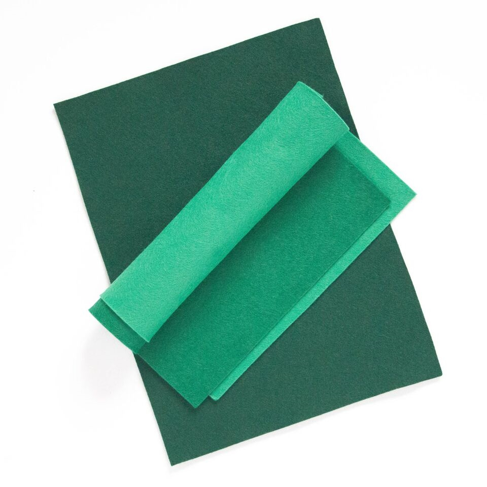 Simon Says Stamp Wool Felt Sheets GET LUCKY GREEN Felt8 Spring Plush zoom image