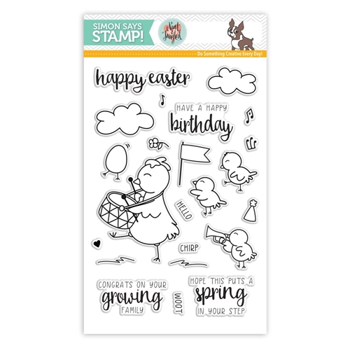 Simon Says Clear Stamps CUTE CHICKS Neat and Tangled Exclusive SSS101608 Preview Image