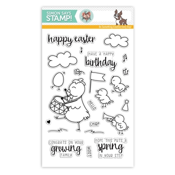 Simon Says Clear Stamps CUTE CHICKS Neat and Tangled Exclusive SSS101608