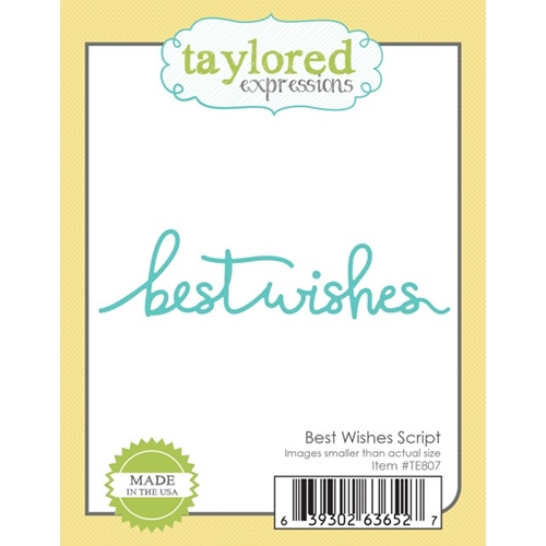 Taylored Expressions BEST WISHES SCRIPT Die TE807 Preview Image