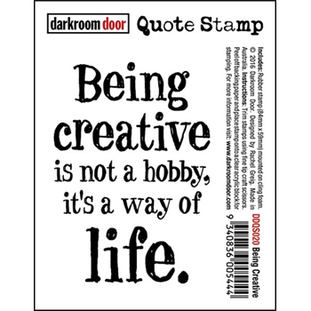 Darkroom Door Cling Stamp BEING CREATIVE Quote Rubber UM DDQS020