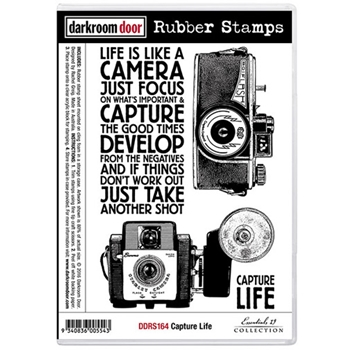 Darkroom Door Cling Stamp CAPTURE LIFE Rubber UM DDRS164