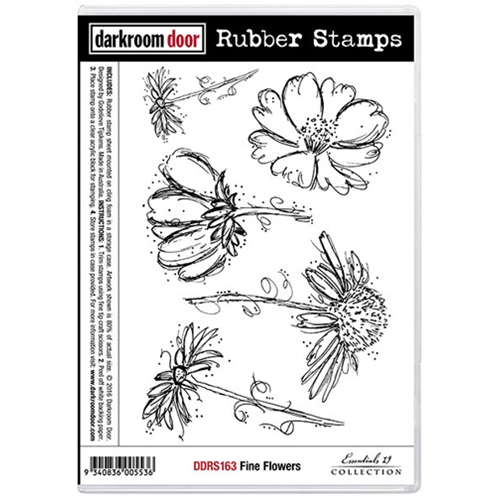 Darkroom Door Cling St& FINE FLOWERS Rubber UM DDRS163 Preview Image Shadow  sc 1 st  Simon Says St& & Darkroom Door Cling Stamp FINE FLOWERS Rubber UM DDRS163 at Simon ...