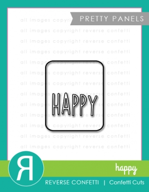 Reverse Confetti Cuts HAPPY PRETTY PANELS Die Set zoom image