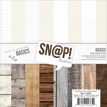 Simple Stories BASICS 6 x 6 Snap Paper Pack 2853