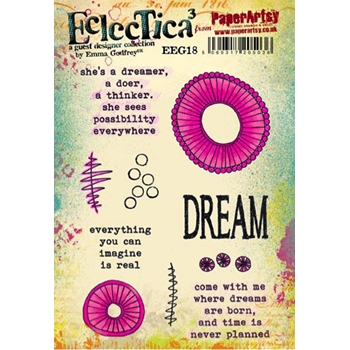 Paper Artsy ECLECTICA3 EMMA GODFREY 18 Rubber Cling Stamp EEG18*