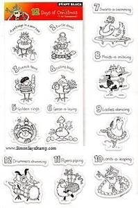 Penny Black Clear Stamps THE 12 DAYS OF CHRISTMAS 30-016