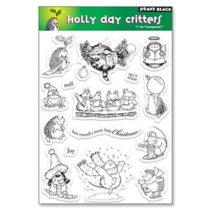 Penny Black Clear Stamps HOLLY DAY CRITTERS Set Hedgy 30-017