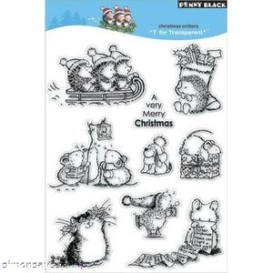 Penny Black Clear Stamps CHRISTMAS CRITTERS 30-006 Hedgy zoom image