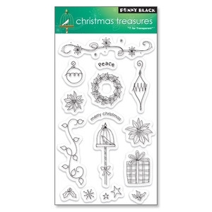 Penny Black Clear Stamps CHRISTMAS TREASURES
