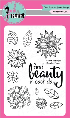 Pink and Main DOODLED FLOWERS Clear Stamp Set 021989 zoom image