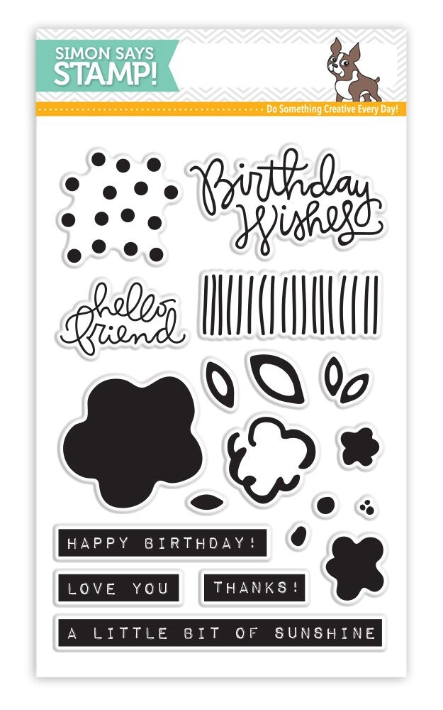 Simon Says Clear Stamps BIRTHDAY FLOWERS SSS101616 zoom image