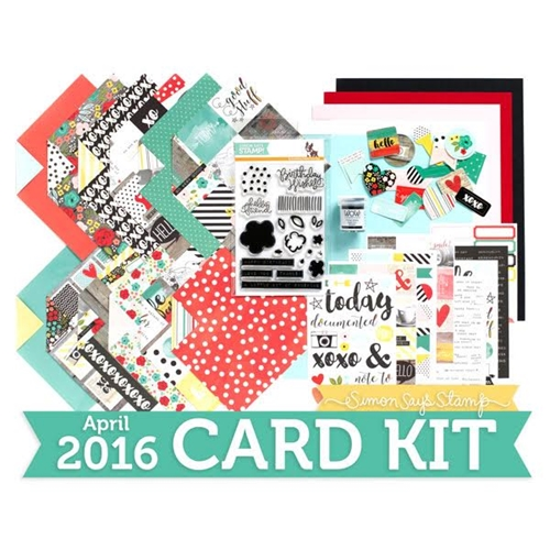 Simon Says Stamp Card Kit of the Month APRIL 2016 A COLORFUL LIFE ck416 Preview Image