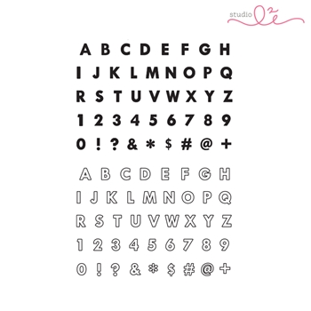 Studio L2E BASIC ALPHABET Clear Stamp Set L2E1087