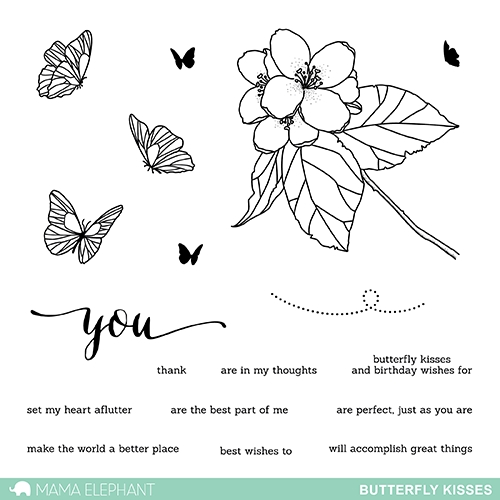 Mama Elephant Clear Stamps BUTTERFLY KISSES Preview Image