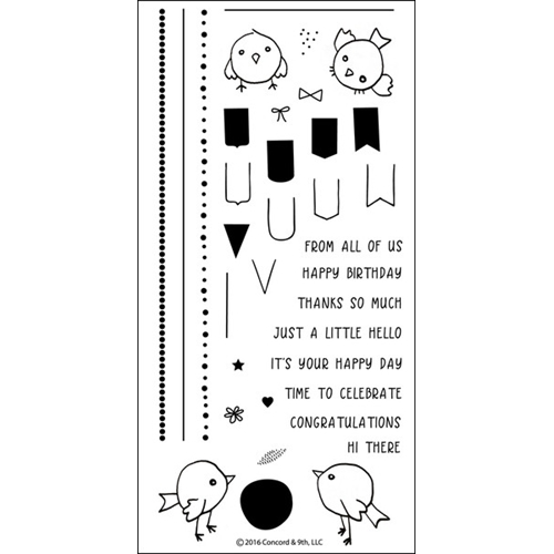 Concord &9th Birdie Banners Stamp Set