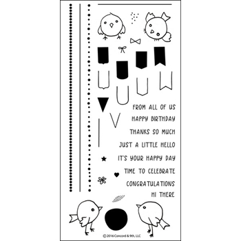 Concord & 9th BIRDIE BANNERS Clear Stamp Set 10074C9