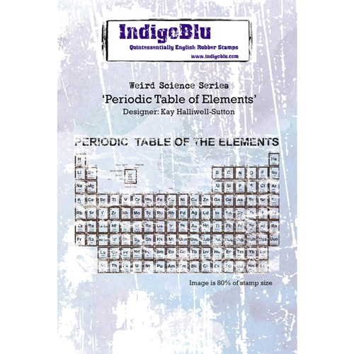 IndigoBlu Cling Stamp PERIODIC TABLE OF ELEMENTS Rubber IND0171 Preview Image