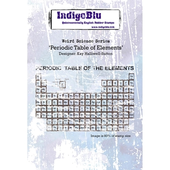 IndigoBlu Cling Stamp PERIODIC TABLE OF ELEMENTS Rubber IND0171