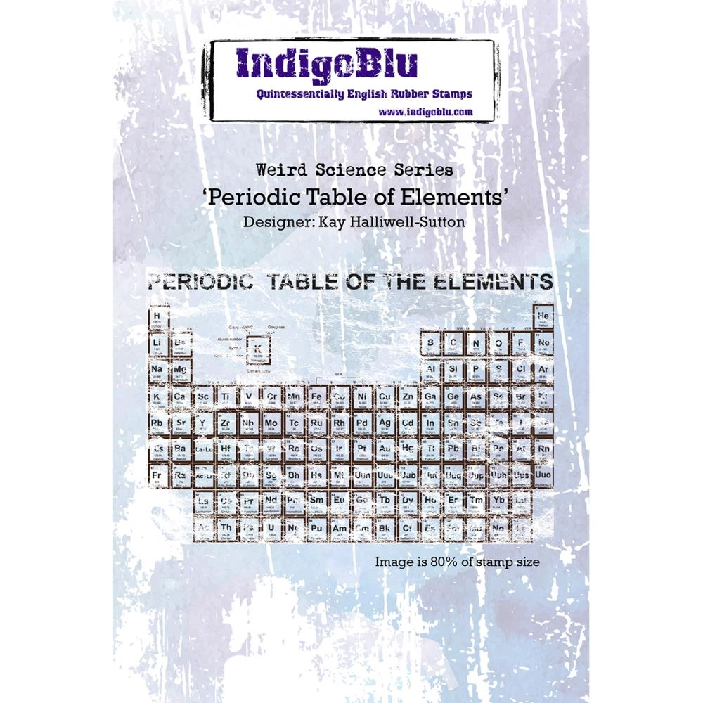 IndigoBlu Cling Stamp PERIODIC TABLE OF ELEMENTS Rubber IND0171 zoom image