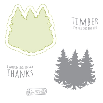 Richard Garay TIMBER Lumberjack Days Stamp and Die Set LJSD002