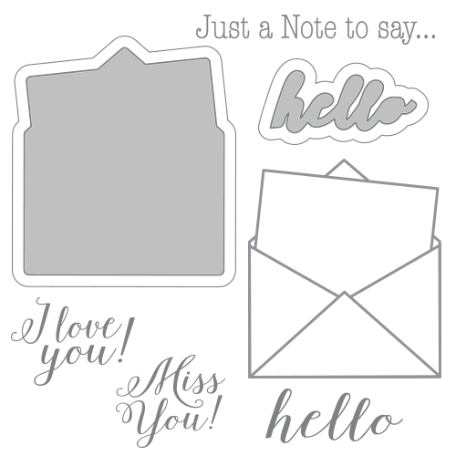 Richard Garay HELLO NOTE Noteworthy Die and Stamp Set NWSD002 Preview Image