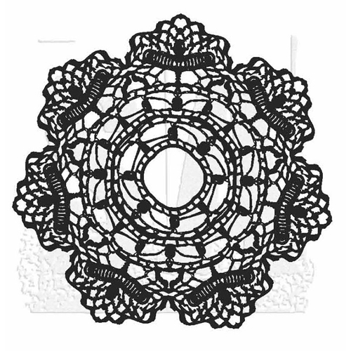 Tim Holtz Rubber Stamp DOILY 1 Stampers Anonymous U2-2817 Preview Image